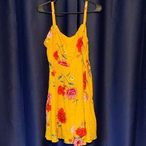 Gold Floral Old Navy Sun Dress NWT